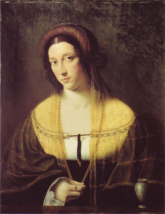 Portrait of a Lady. by Bartolomeo Veneto, early 16th century