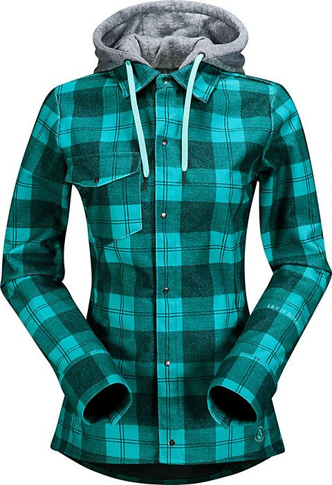 Volcom Circle Flannel Jacket - Women's Snowboard Flannel - Outerwear - Plaid - Hoodie