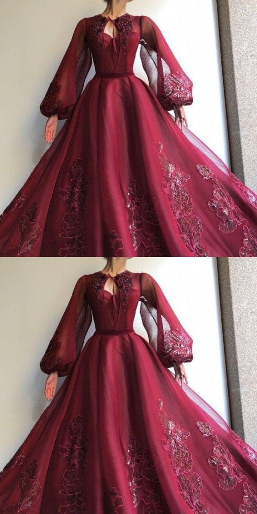 Elegante Abendkleider Mit Armel Abiballkleider Lang Weinrot Modellnummer Xy932 In 2020 Abiball Kleider Lang Elegante Abendkleider Abendkleid