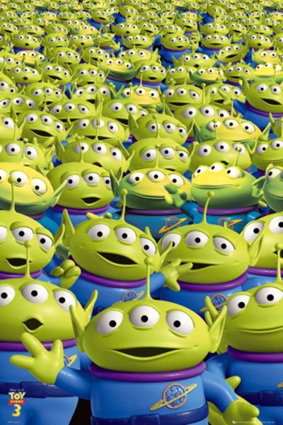 We love the aliens from Toy Story. Oooooooooooh!