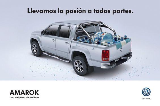 VW Amarok. Vía Pública pre-mundial para Agencia 361 Argentina.