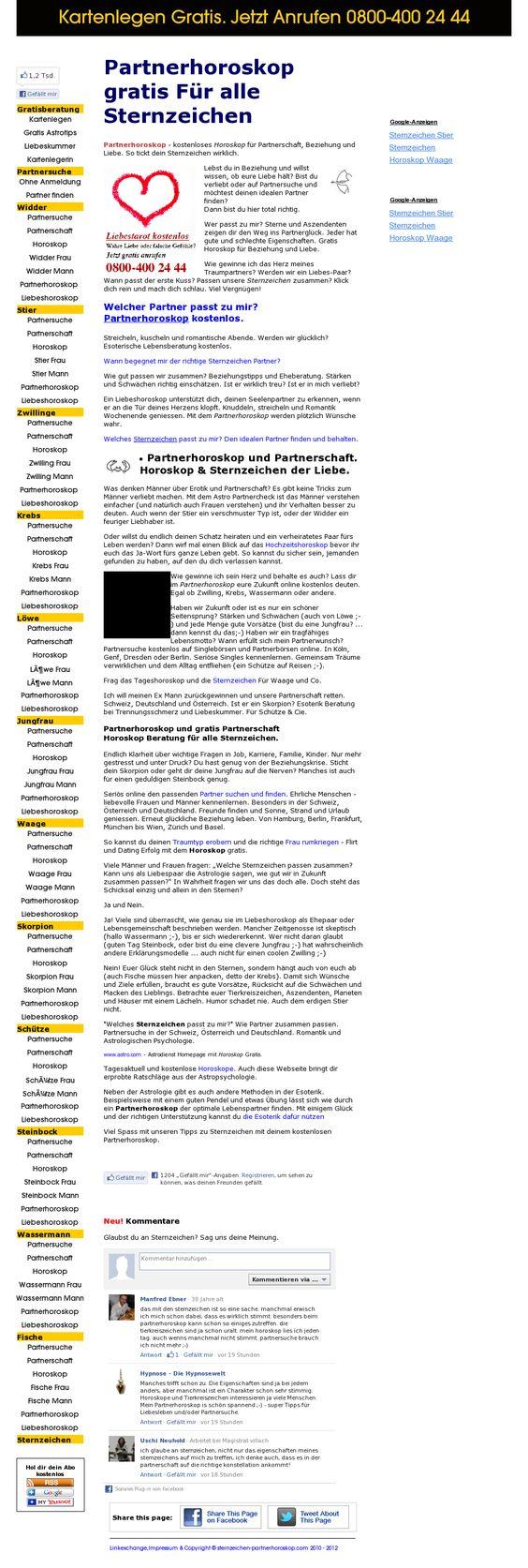 sternzeichen und horoskop kostenlos  partnerhoroskop -- www.sternzeichen-partnerhoroskop.com