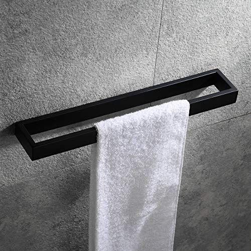 Hoooh Matte Black Hand Towel Holder For Bathroom 15 3 4 Https Www Amazon Com Dp B07frh6ztw Towel Holder Bathroom Hand Towel Holder Hand Towels Bathroom