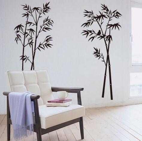 HALLOBO® Wandtattoo Bambus XXL Wandaufkleber Wandsticker Wall - Deko Für Schlafzimmer