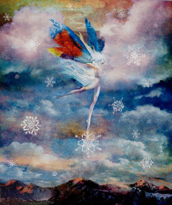 NEIGE FAERIE Fine Art Print hiver visionnaire par spalenka