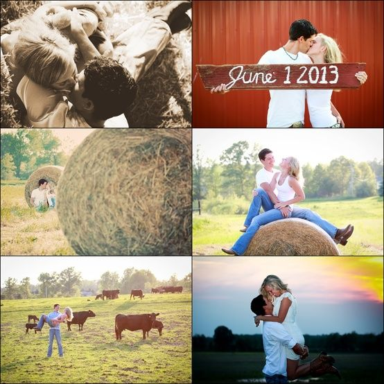 country engagement pictures - Bing Images This is weird because its actually the date of their wedding.