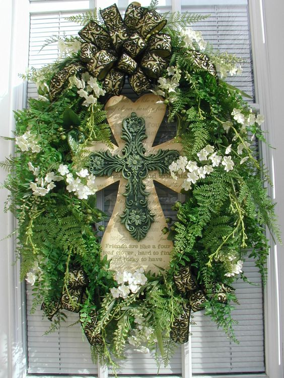 printable easter wreaths o brian damasks and cross wreath on 2763