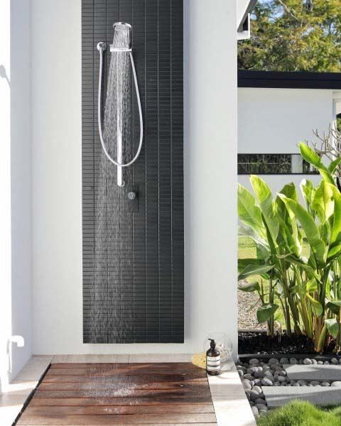 Top 60 Best Outdoor Shower Ideas Enclosure Designs Outdoor Shower Pool Shower Outdoor Bathrooms
