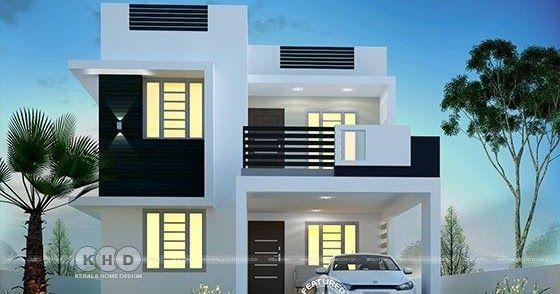 Super Cute Small Contemporary Home Kerala House Design Bungalow House Design Small House Elevation Design Small contemporary house plans kerala