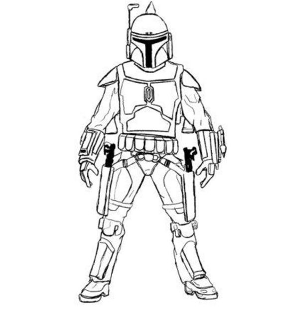 Boba fett, Coloring pages and Star Wars on Pinterest
