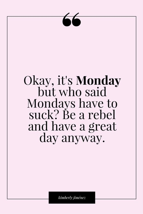 Shake off the Monday blues!: