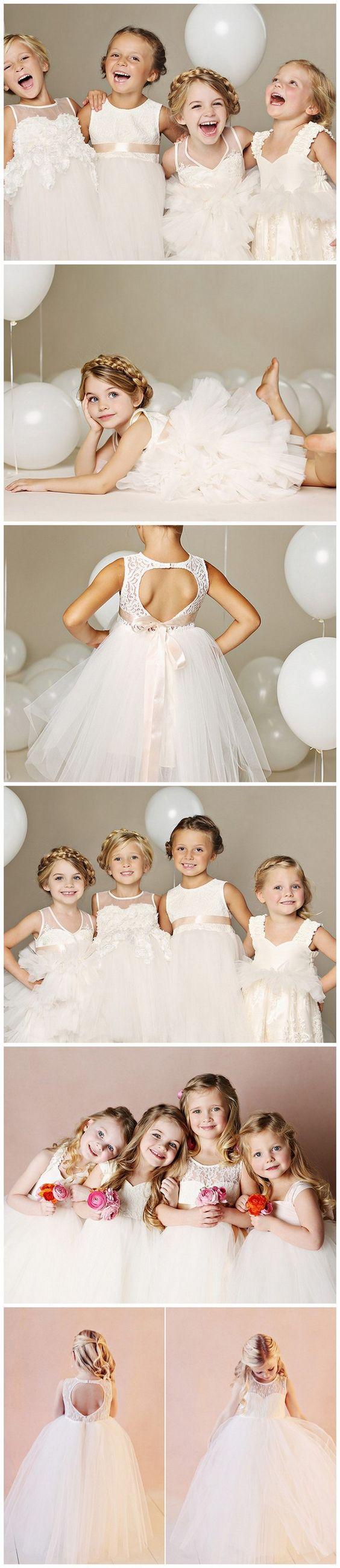 Darling flower girl dresses fattie pie wedding braid crown and