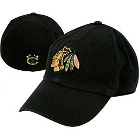 Get this Chicago Blackhawks Black Franchise Cap at WrigleyvilleSports.com