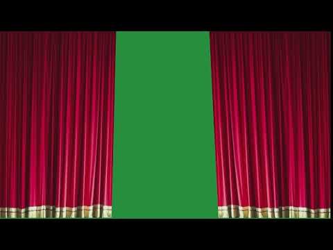 red curtains drawn closed w realism