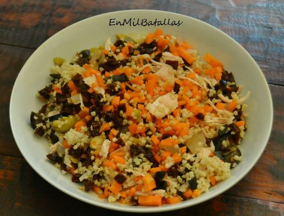 ensalada de mijo y pollo en escabeche http://enmilbatallas.com/2016/07/25/ensalada-de-mijo-y-pollo-en-escabeche/