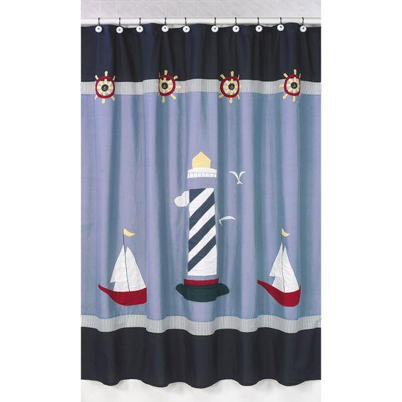 Come Sail Away Nautical Shower Curtain | Overstock.com