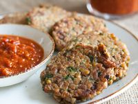 Red Lentil Patties with Spicy Tomato Jam.