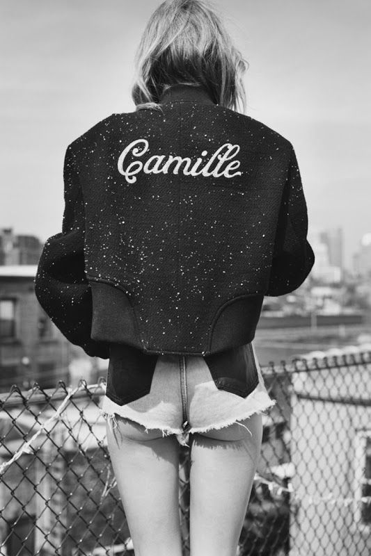 Camille Rowe by Guy Aroch for So It Goes Magazine #3 S/S 2014  Great jacket