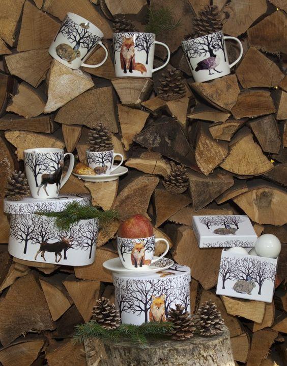 Gans und Hirsch, Fuchs und Hase …  … nein, die sagen sich nicht Gute Nacht, sondern sie laufen dem Elch diesen Winter den Rang ab #Porzellan #Tassen http://paulineshouse.com/winter-we-are-waiting-for-you/#more-3812