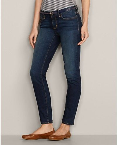 Slightly Curvy Skinny StayShape® Ankle Jeans | Eddie Bauer