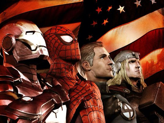 Avengers tattoo idea for my kids. Avengers ironman Spider-man American flag