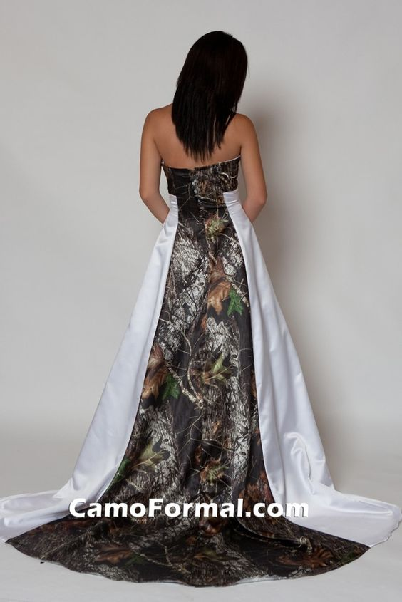 Camo wedding dresses camo wedding and mossy oak on pinterest for Camo ribbon for wedding dress