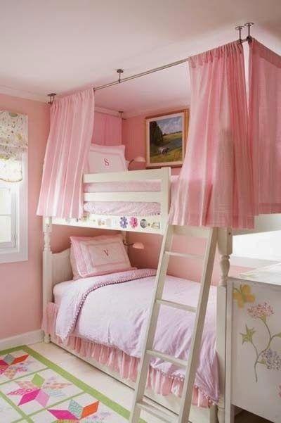 dise os de camas camarote o literas para el dormitorio de ni as