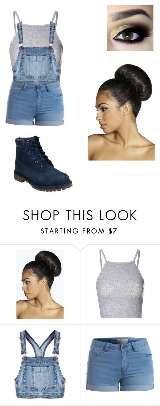 """""""In the garden """" by jasminemalhorstytompay ❤ liked on Polyvore featuring beauty, Boohoo, Glamorous, Moschino, Pieces and Timberland"""