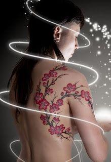 cherry blossoms tattoo back | Arte Tattoos: Cherry Blossom Tattoo Designs