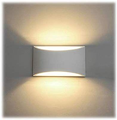 Led Wandleuchte Innen 7w Weiss Gipsleuchte Modernes Design Wandlampe Led Licht Up Und Down Wandlicht Spotlicht Warmweiss With Images Wall Lights Light Flat Ideas