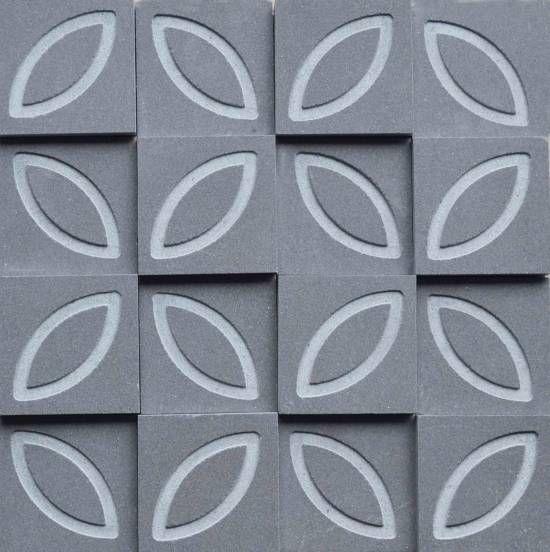 Brogliato Revestimentos - Coleções - Print - Flower Gray - 30x30cm.