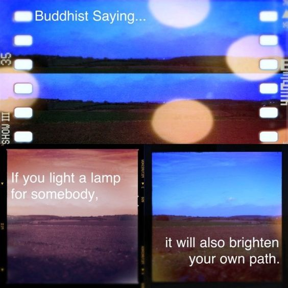 If you light a lamp...