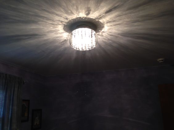 My bedroom light at night!