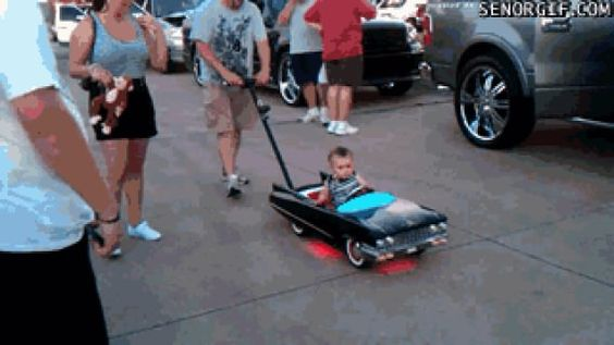 Baby riding in style can we have this for batman?