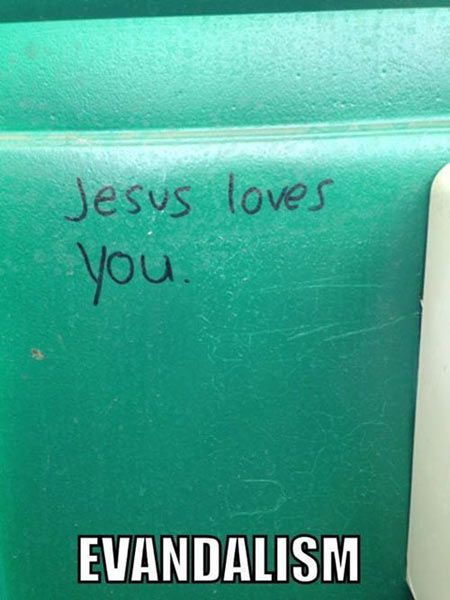 Religious vandalism…: