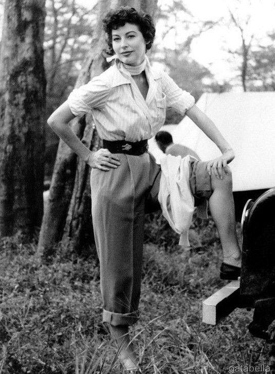 "gatabella: Ava Gardner on the set of Mogambo, 1953 """