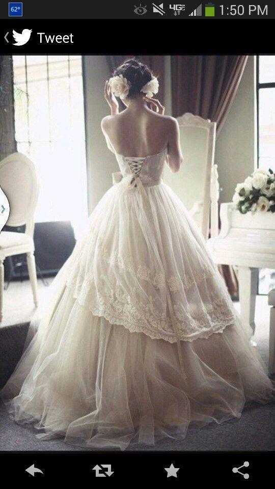 Vintage Corset Wedding Dress - Fashion - Pinterest - Wedding ...