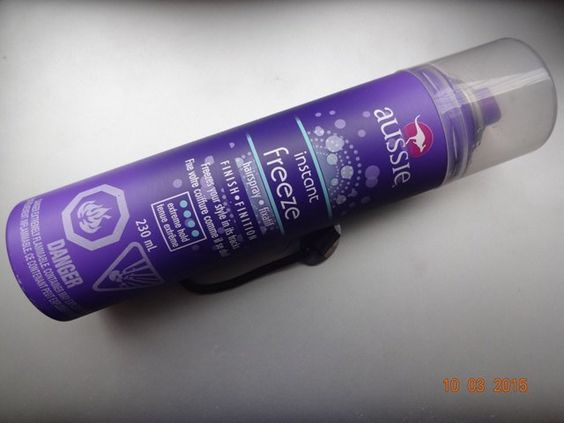 #Aussie #Instant #Freeze #Hairspray #Finish #review #price and details on the blog