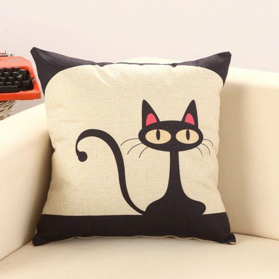 rubi cojines gato precioso sin interno del diseo del modelo animal de cojines decorativos directa de