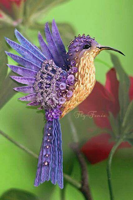 Handmade Humming Bird, isn't it beautiful:)...: