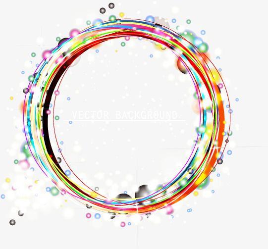 Le Theme De L Efficacite De La Lumiere De Couleur De La Boite De Cercle Circle Frames Rainbow Drawing Circle Drawing