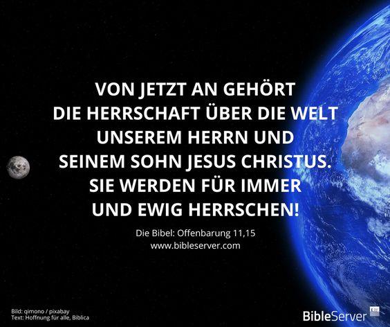 Jesus ist der Herr! | Bibelvers nachlesen auf #BibleServer | Offenbarung 11,15