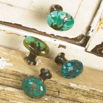 Drawer pulls turquoise and drawers on pinterest for Turquoise door knobs