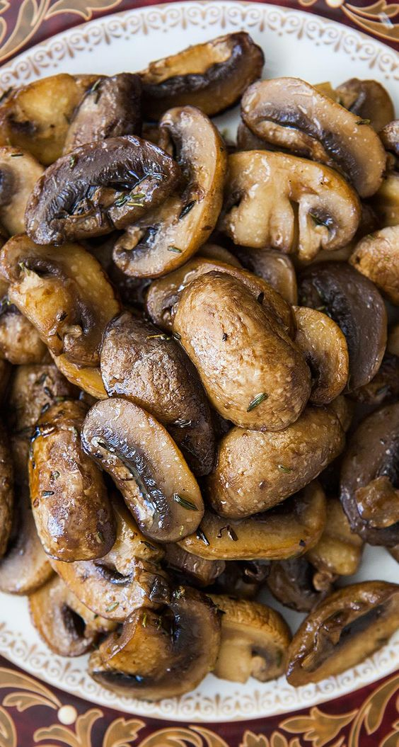 ... wine, and reduced until the wine is just a glaze on the mushrooms. On