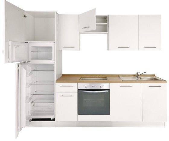 Cuisine Equipee Pre Montee 2 65 M Brico Depot White Modern Kitchen Kitchen Decor Kitchen Cabinets