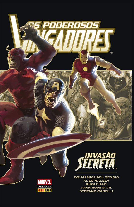 Os Poderosos Vingadores: Invasão Secreta - Marvel Deluxe - MonsterBrain