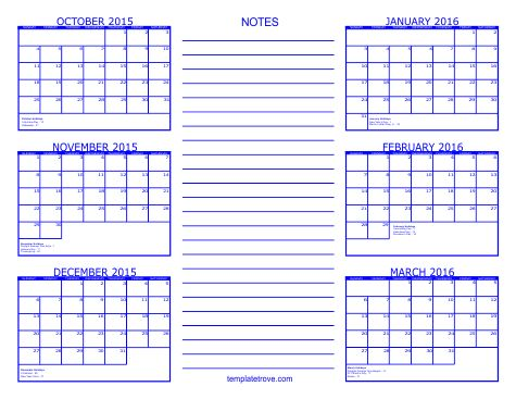2015 6 Month Calendars Available In Five Colors   art   Pinterest ...