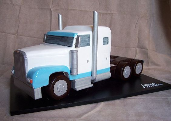 Fabulous 3D Peterbilt cake | Peterbilt, Truck cakes and Cake BN41
