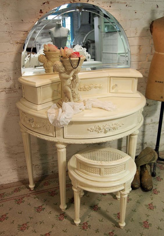 Painted Cottage Chic Shabby Cream Romantic by paintedcottages, $565.00