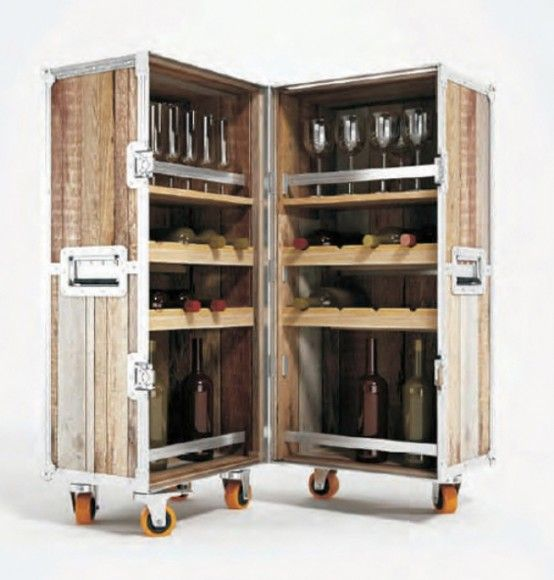 love this whole series of vintage like wooden suitcase furniture bar trunk furniture